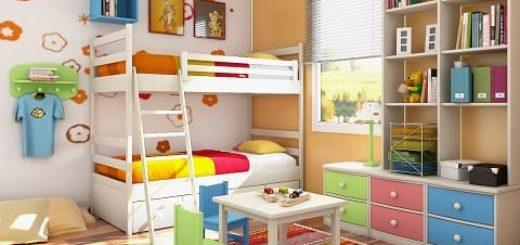 Детская комната для двоих детей. Дизайн интерьера