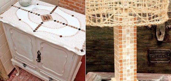 Лампа и Кухонный буфет с применением мозаики
