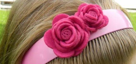 Розы из войлока для создания аксессуаров
