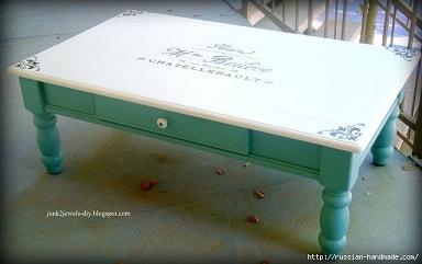 Три варианта переделки мебели. Декорирование журнального столика
