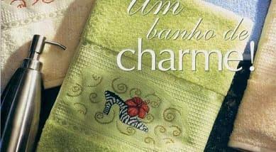 Туфелька - схема вышивки для полотенца