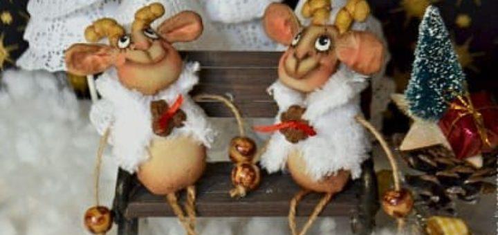 Новогодняя кофейная овечка - шьем сувенир к Новому году