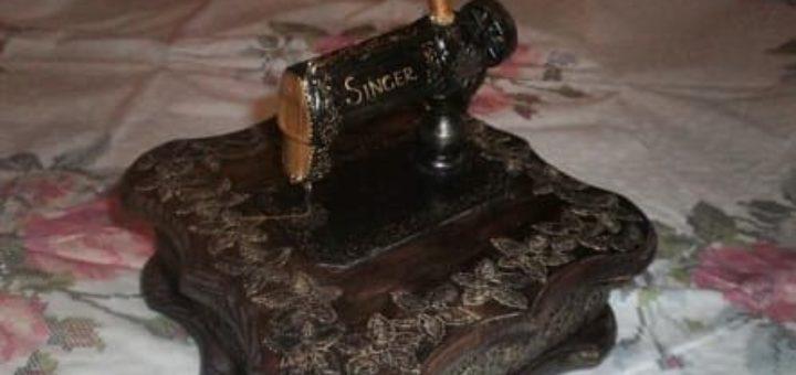 Шкатулка со швейной машинкой своими руками