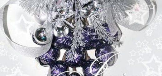 Свит-дизайн. Новогодняя подвеска из конфет