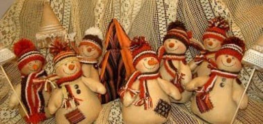 Кофейные снеговики к Новому году. Мастер-класс