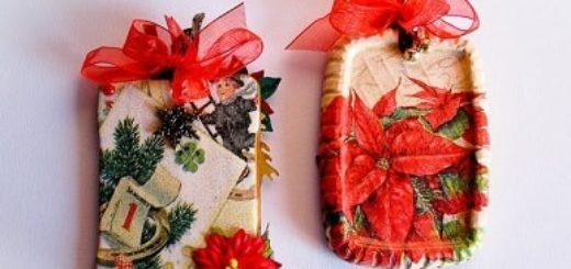 Новогодние подвески из шпатлевки. Мастер-класс