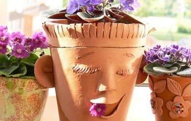 Декорирование цветочного горшка своими руками