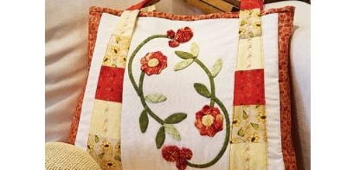 Как сшить сумку цветами из ткани в технике пэчворк