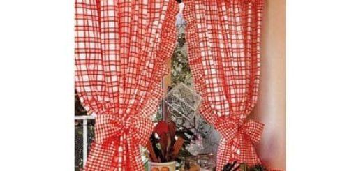 Шьем сами кухонные занавески на петлях с воланами
