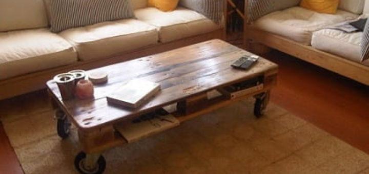 Журнальный столик своими руками из поддонов