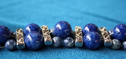 Ляпис Лазурит - каменные бусины с целительными свойствами