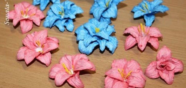 Бумагопластика. Цветы из акварельной бумаги