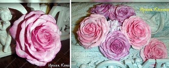 Очень красивые розы из фоамирана. Мастер-класс