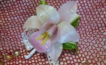 Орхидея цимбидиум из холодного фарфора