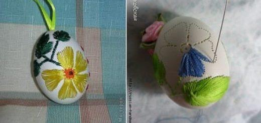 Учимся вышивать на пасхальных яйцах