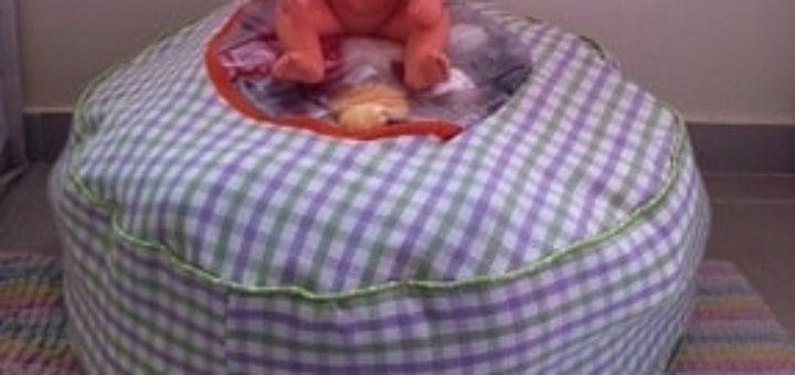Как сшить пуфик-органайзер для детских вещей или игрушек