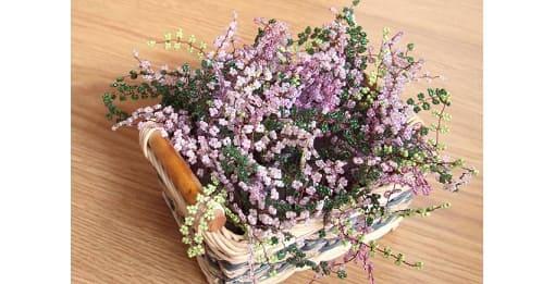 Корзинка с цветами - ВЕРЕСК ИЗ БИСЕРА