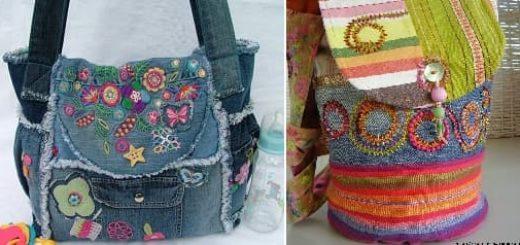 Модные сумки из старых джинсов