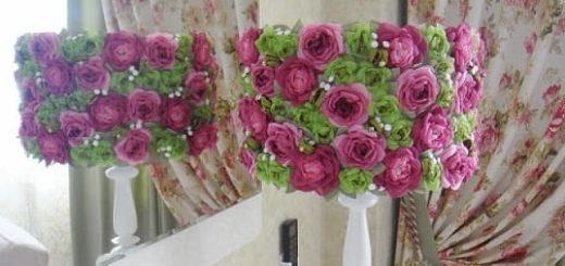 Цветы из ткани и БУКЕТ ИЗ СТАРОЙ ЛАМПЫ