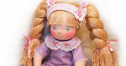 Выкройка вальдорфской куклы Дуняши