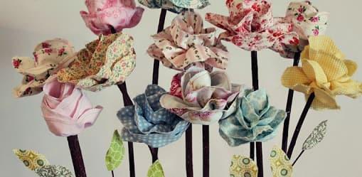 Букеты цветов из ткани. Мастер-класс