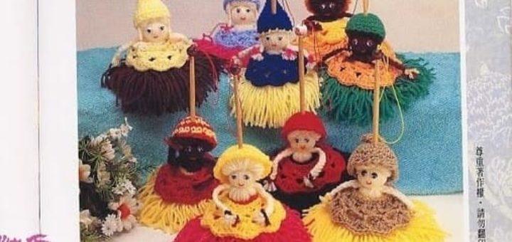 Куколки-метелки из пряжи