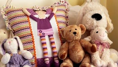 Подушка с куколкой для девочки. Мастер-класс