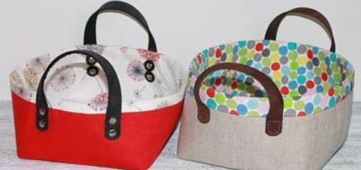 Шитье текстильной корзинки. Мастер-класс