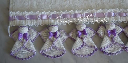 Ангелы крючком для обвязки полотенца