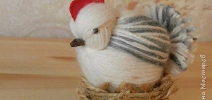 Курочки и цыплята из пряжи. Мастер-класс