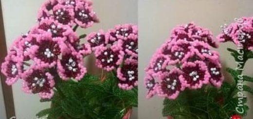 Цветы из бисера. ФЛОКСЫ
