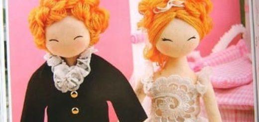 Шьем кукол. Жених и невеста