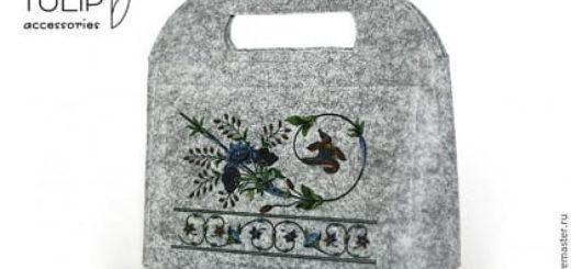 Шьем сумочку - клатч из войлока или фетра