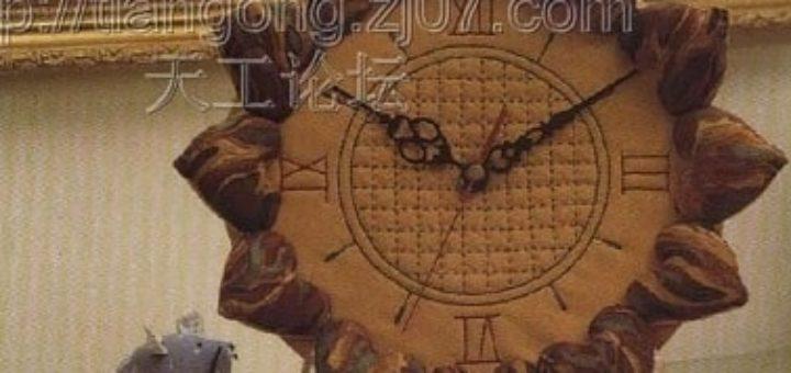 Текстильные часы с сердечками