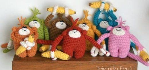 Вязание крючком озорных обезьянок