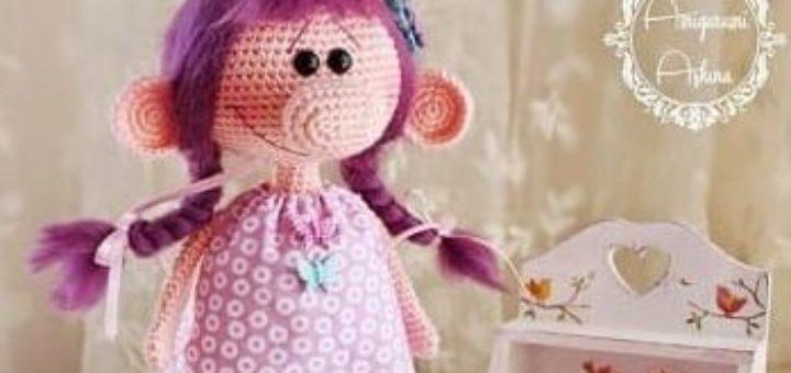 Вяжем куколку - девочку с большим носом