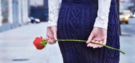 Теплая короткая юбочка с сердечками