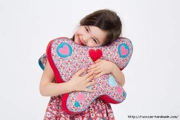 Детская подушка БАБОЧКА своими руками