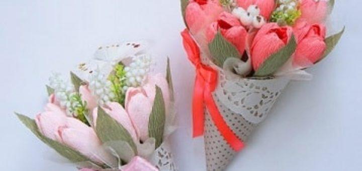 Кулечки для цветов ручной работы. Идея к 8 марта