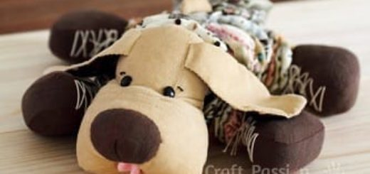 Шьем собачку из цветочков йо-йо. Мастер-класс и выкройка