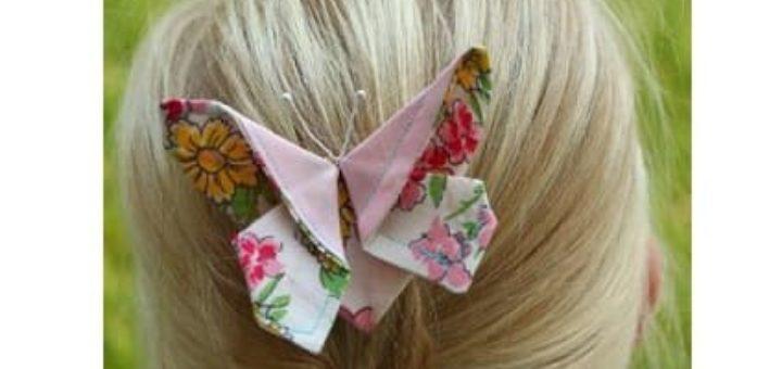 Текстильные бабочки для украшения волос