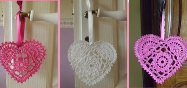 Схемы вязания сердечек - валентинок крючком
