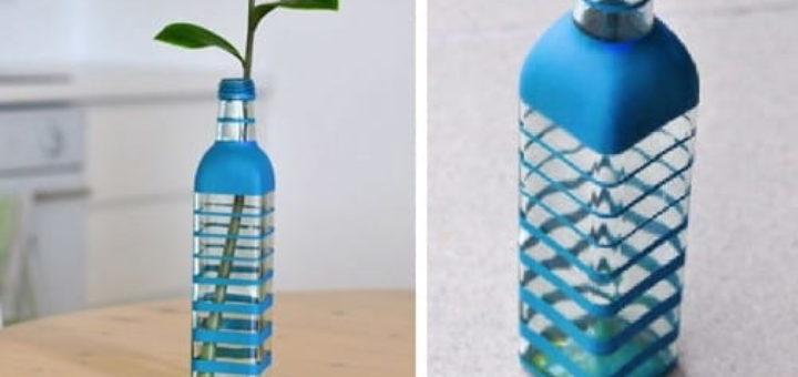 Декоративная бутылка - вазочка для цветов своими руками