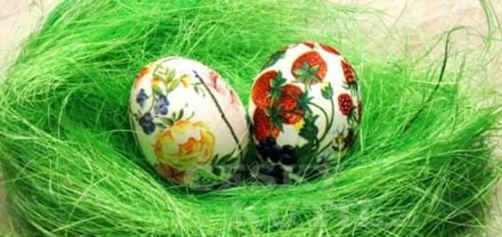 Декупаж салфетками. Пасхальные яйца
