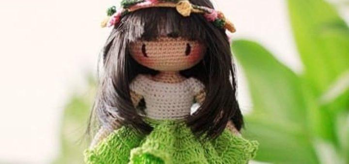 Куколка амигуруми. Лесная Фея. Описание