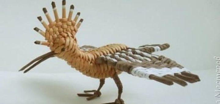 Удод - птица года из газетных трубочек. Мастер-класс
