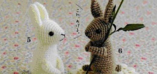 Зайцы амигуруми крючком. Описание