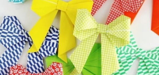 Бантики из бумаги в технике оригами