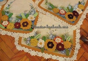 Цветочные коврики для ванной