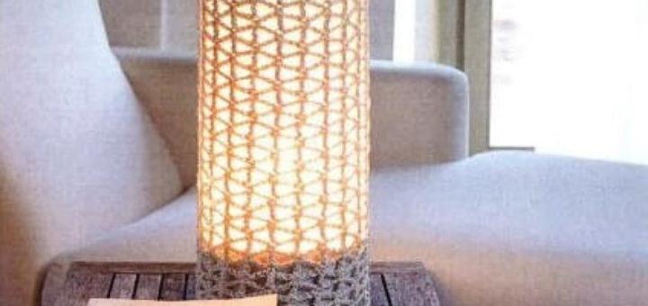 Обвязка крючком для настольной лампы